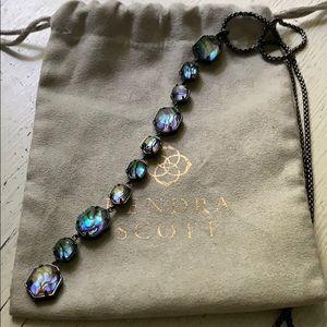Kendra Scott Darrell necklace in gunmetal